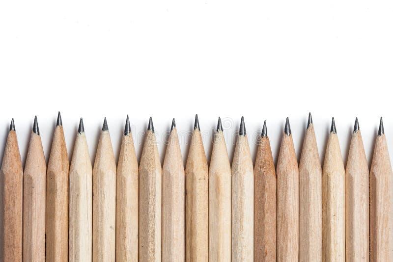 Fundo abstrato do conceito dos lápis com espaço para o texto ou fotografia de stock