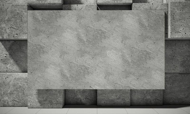 Fundo abstrato do concreto, ilustração 3d ilustração royalty free