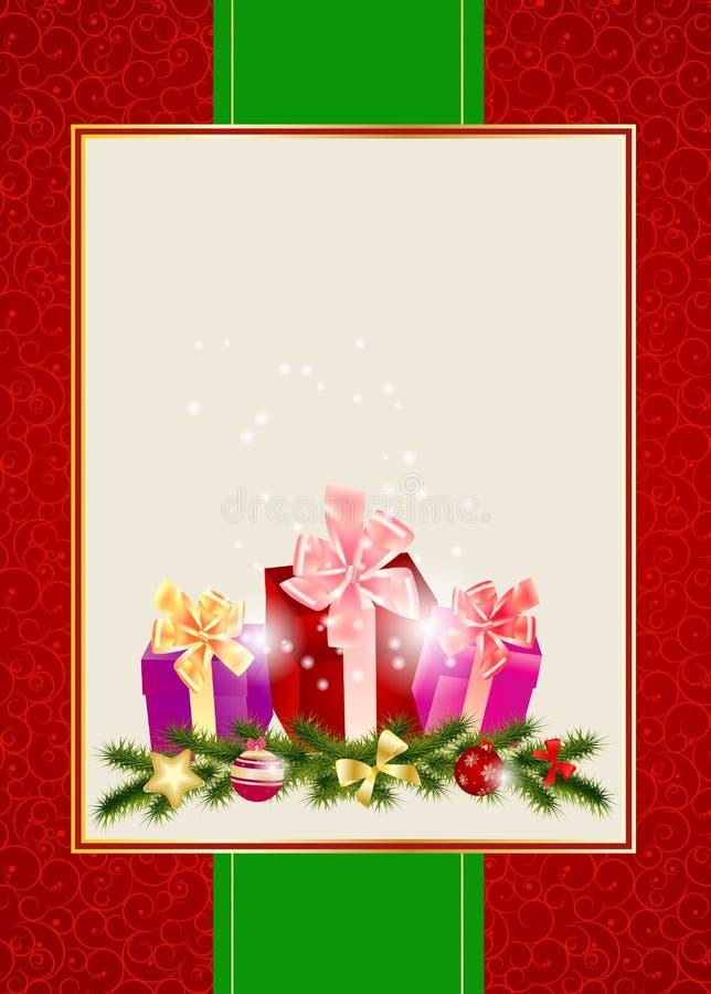 Fundo abstrato do convite do Natal da beleza. ilustração do vetor