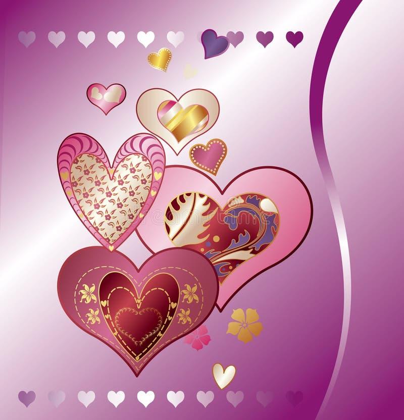 Fundo abstrato do coração ilustração do vetor