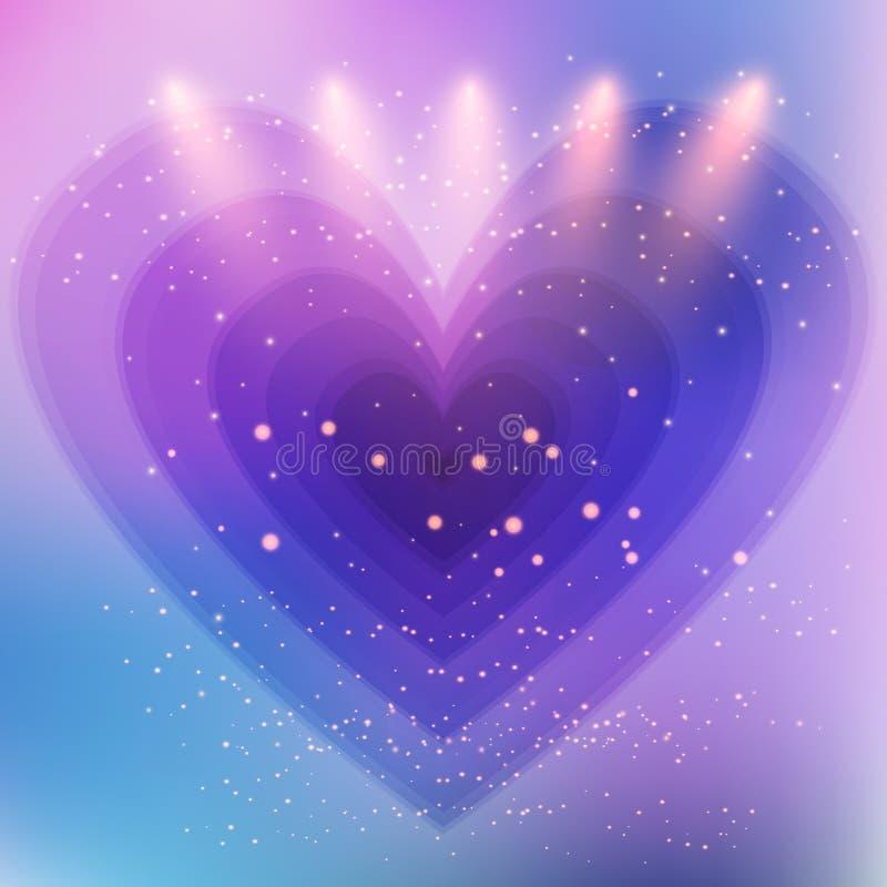 Fundo abstrato do coração ilustração royalty free