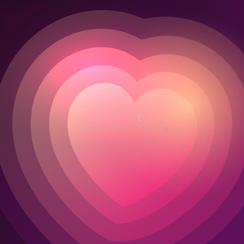 Fundo abstrato do coração do inclinação ilustração stock
