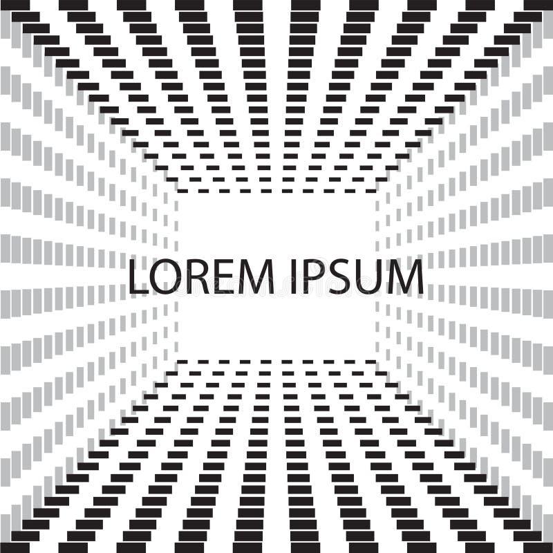 Fundo abstrato do cubo em preto e branco Elemento do projeto do blyer da tampa minimalism Imagem do vetor ilustração do vetor