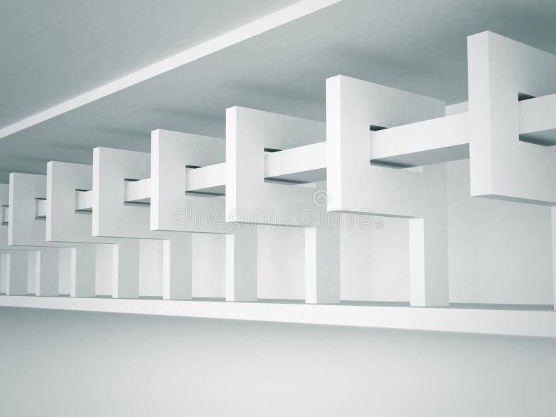 Fundo abstrato do design de interiores da arquitetura ilustração do vetor