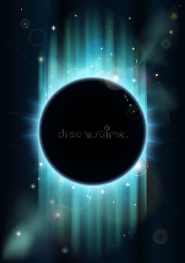 Fundo abstrato do eclipse ilustração do vetor