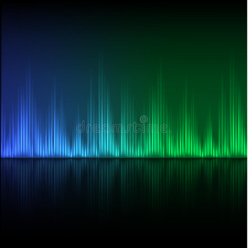 Fundo abstrato do equalizador Onda azul esverdeado ilustração do vetor