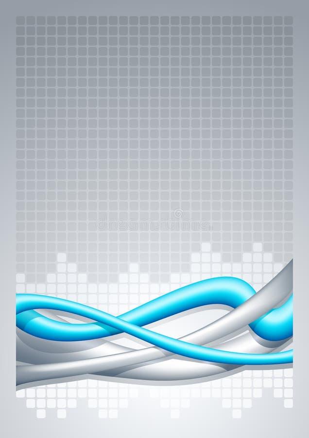 Fundo abstrato do fio - vertical. ilustração royalty free