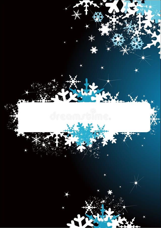 Fundo abstrato do floco de neve ilustração do vetor