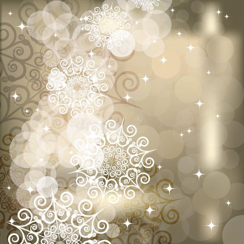 Fundo abstrato do floco de neve de luzes do feriado
