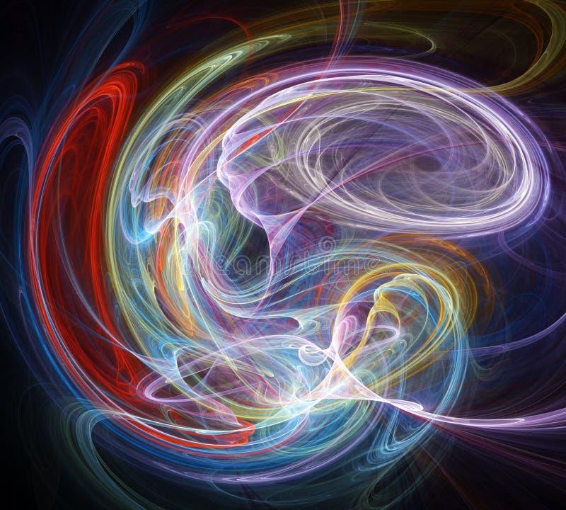 Fundo abstrato do fractal ilustração royalty free