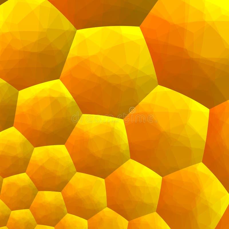 Fundo abstrato do Fractal Gráficos gerados por computador Dentro de Honey Bee Hive Fundos geométricos sextavados Amarelo morno ilustração do vetor