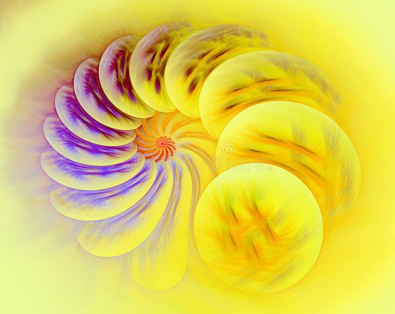 Fundo abstrato do fractal - imagem gerada por computador Escudo do mar ilustração royalty free