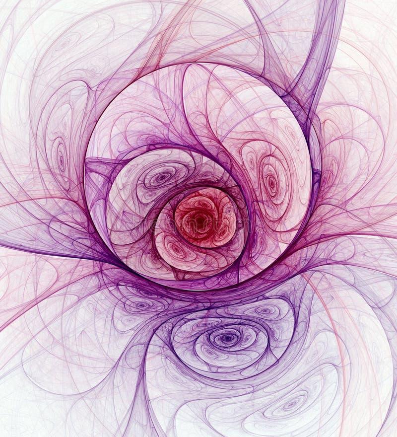 Fundo abstrato do fractal sobre ilustração royalty free