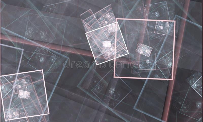 Fundo abstrato do fractal, textura, quadrado do fractal imagem de stock