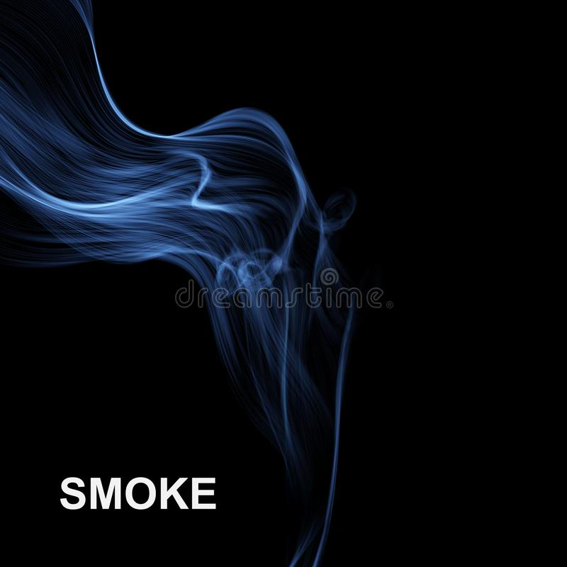 Fundo abstrato do fumo Ilustração do vetor ilustração royalty free
