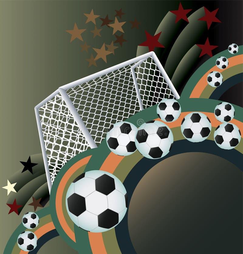 Fundo abstrato do futebol. ilustração stock