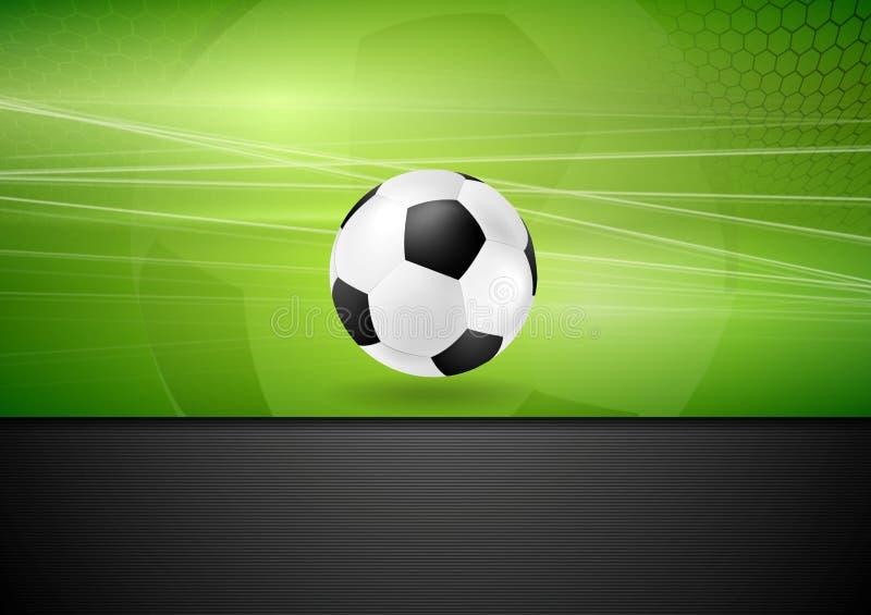 Fundo abstrato do futebol com bola de futebol ilustração royalty free