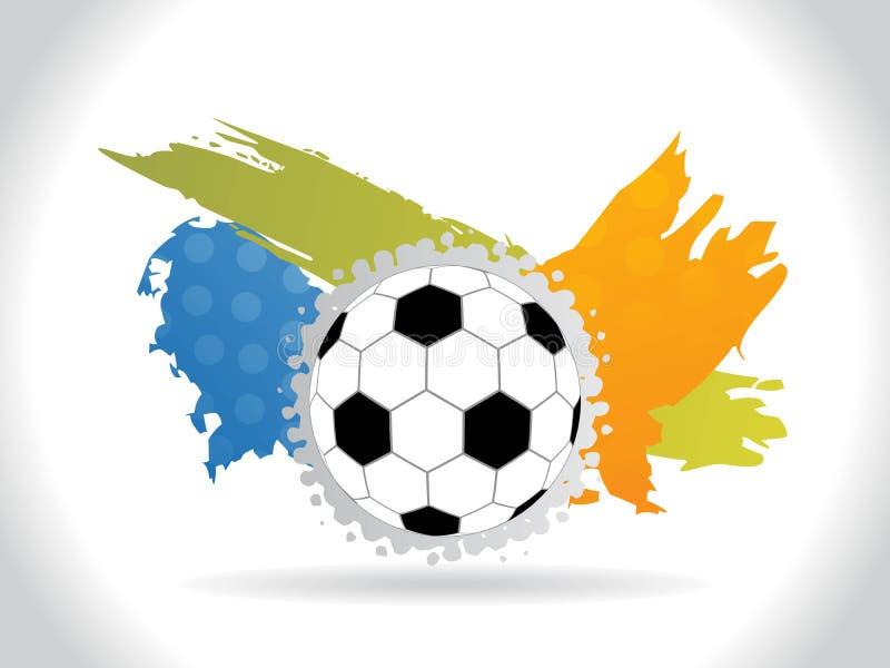 Fundo abstrato do futebol com grunge do colorfull ilustração stock