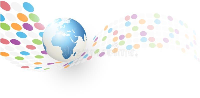 Fundo abstrato do globo da terra ilustração royalty free