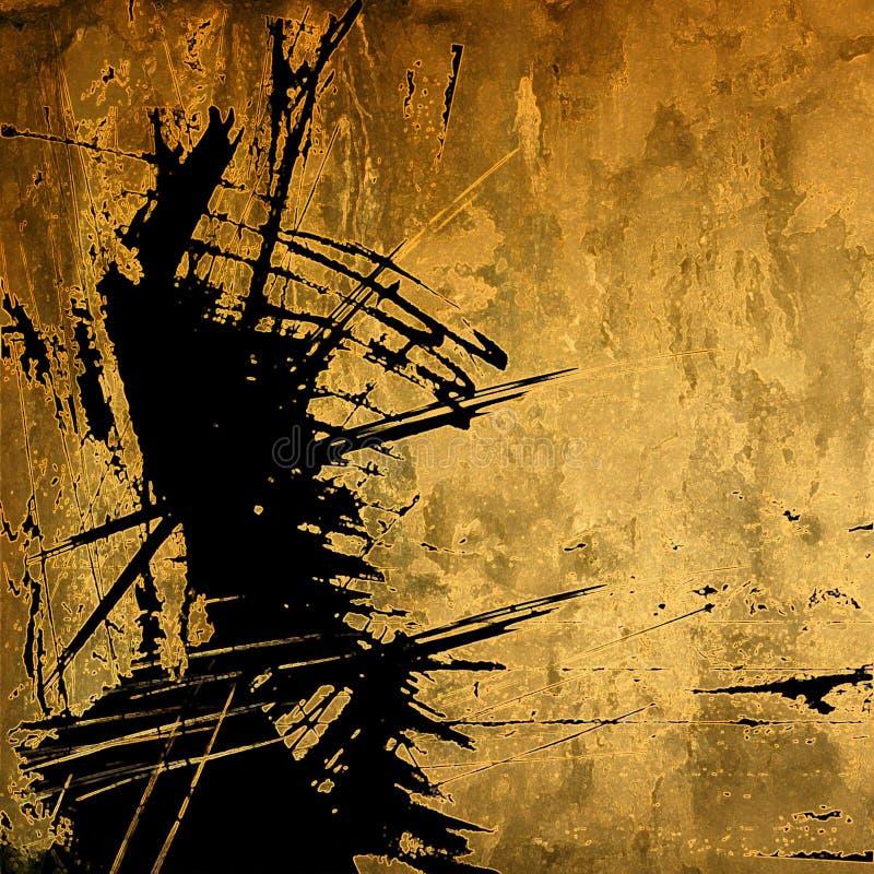 Fundo abstrato do gráfico do grunge da arte ilustração stock
