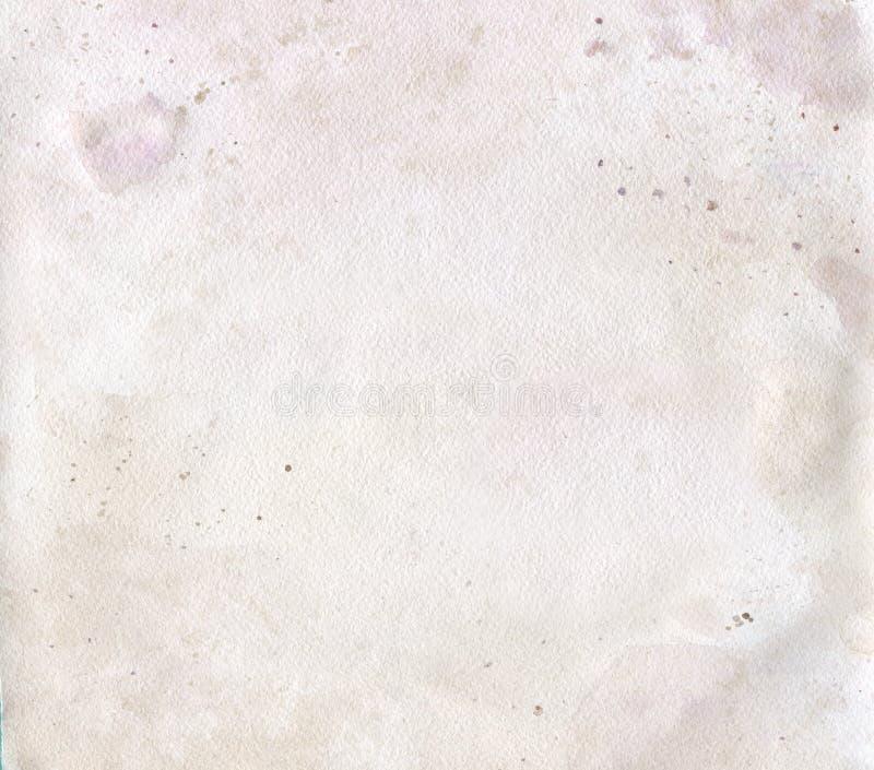 Fundo abstrato do grunge da aquarela Papper velho Pintura pastel foto de stock royalty free