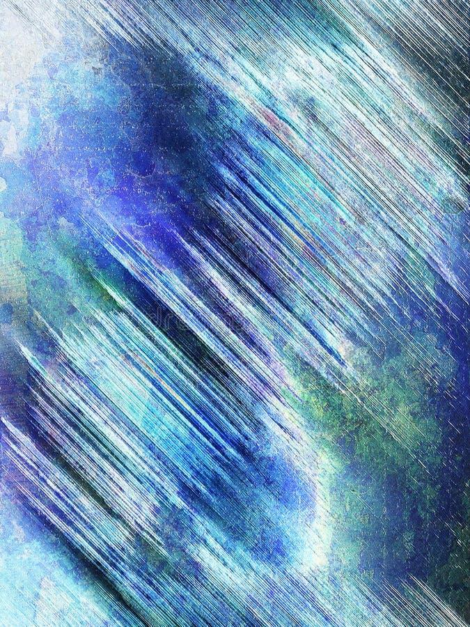 Fundo abstrato do grunge em tons azuis e verdes ilustração do vetor