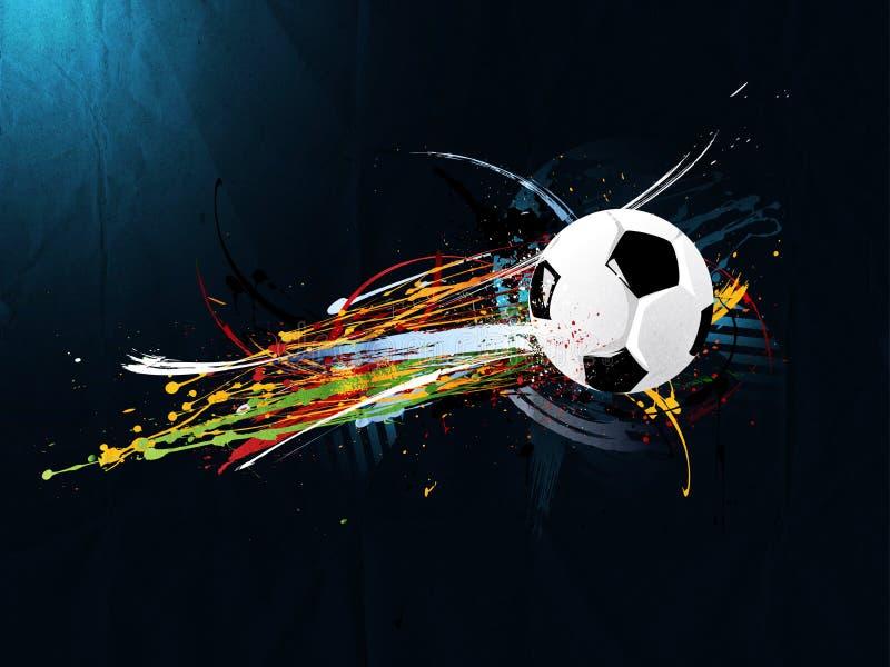 Fundo abstrato do grunge, futebol ilustração stock