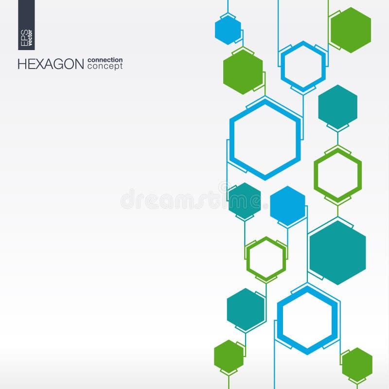 Fundo abstrato do hexágono com polígono integrados ilustração royalty free