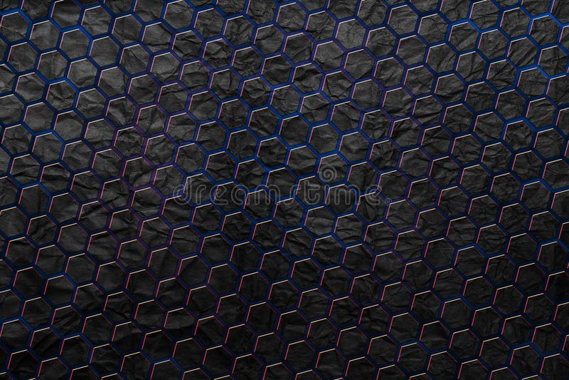 Fundo abstrato do hexágono da tecnologia, fundo geométrico moderno fotografia de stock