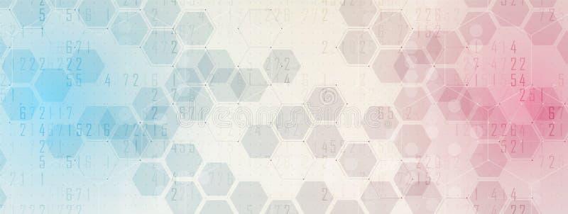 Fundo abstrato do hexágono Projeto poligonal da tecnologia Digita ilustração royalty free