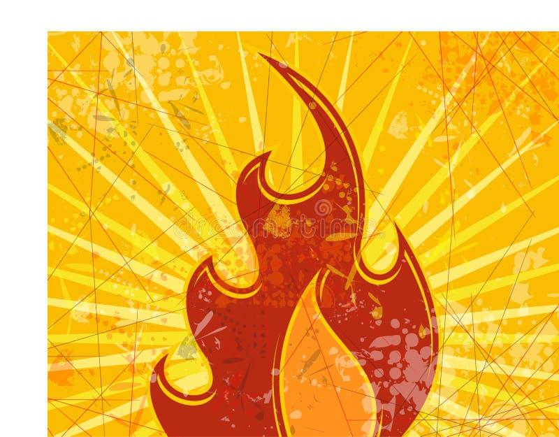 Fundo abstrato do incêndio ilustração royalty free