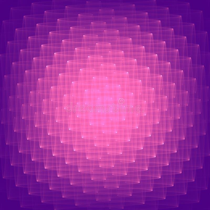 Fundo abstrato do lilac Formas lilás brilhantes Teste padrão geométrico no lilás e nas cores violetas Bitmap da quadriculação ilustração royalty free