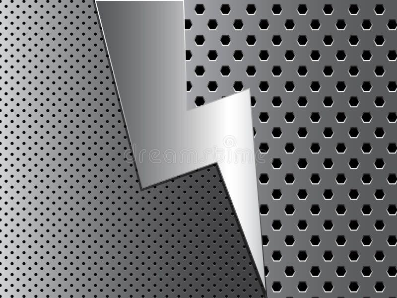 Fundo abstrato do metal ilustração do vetor