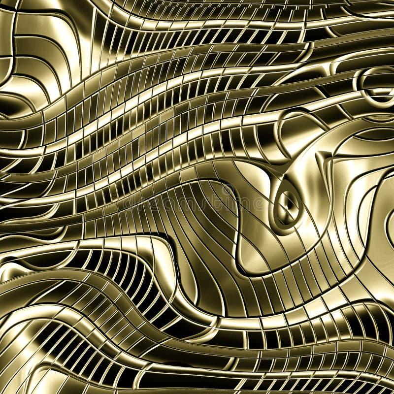 Fundo abstrato do metal do ouro ilustração do vetor