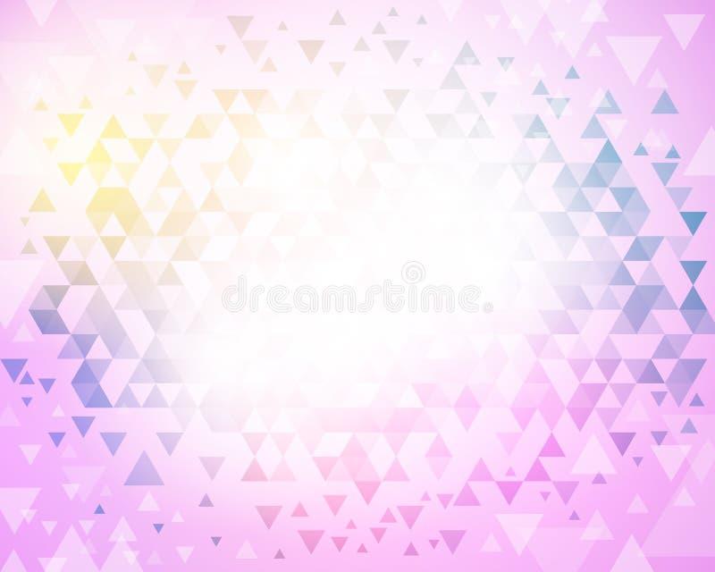 Fundo abstrato do mosaico do vetor ilustração stock