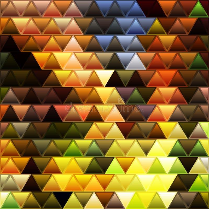 Fundo abstrato do mosaico do triângulo do vidro colorido do vetor ilustração royalty free
