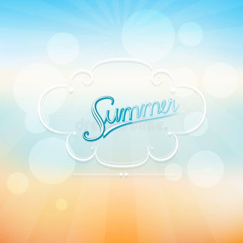Fundo abstrato do nascer do sol do verão ilustração do vetor