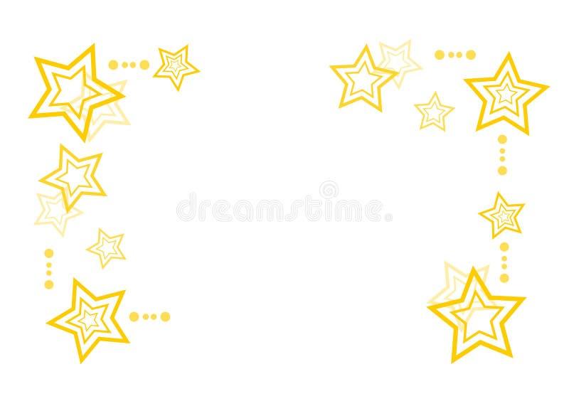 Fundo abstrato do Natal com estrelas ilustração do vetor