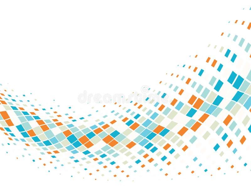 Fundo abstrato do negócio com telhas de mosaico ilustração do vetor