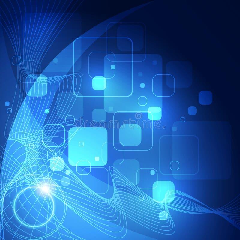 Fundo abstrato do negócio da tecnologia do cubo do computador do circuito da estrutura ilustração royalty free