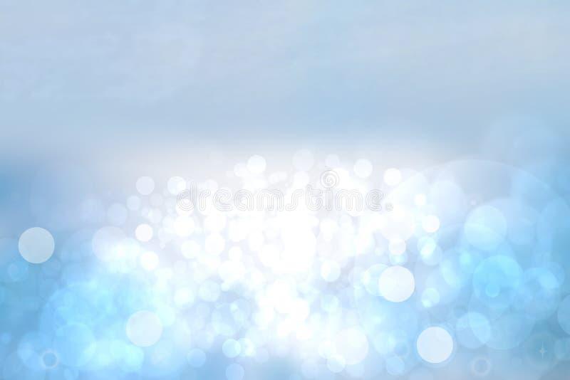 Fundo abstrato do oceano Oceano tropical brilhante do sum?rio com sol e o c?u nebuloso azul Contexto para f?rias de ver?o e curso ilustração do vetor