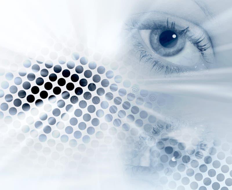 Fundo abstrato do olho ilustração do vetor