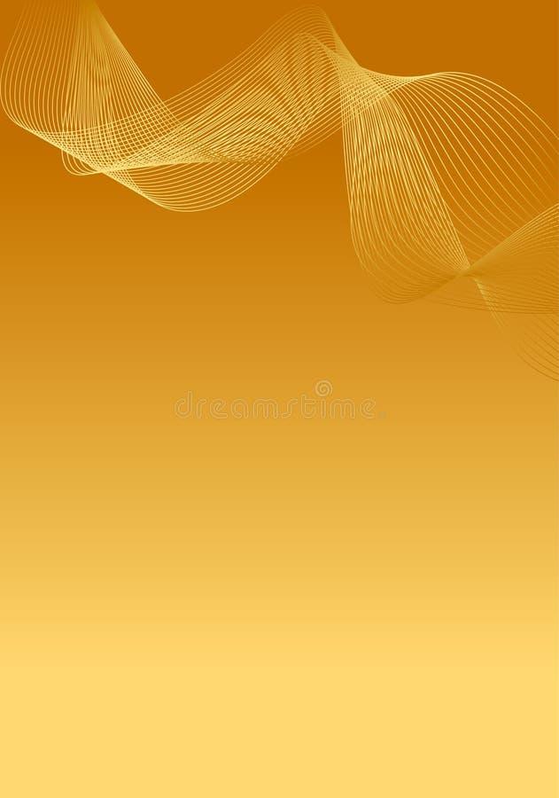 Fundo abstrato do ouro ilustração do vetor