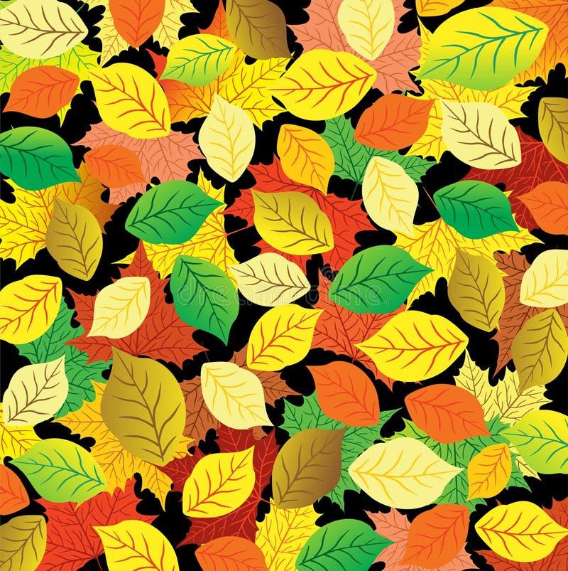 Fundo abstrato do outono Folhas coloridas ilustração royalty free
