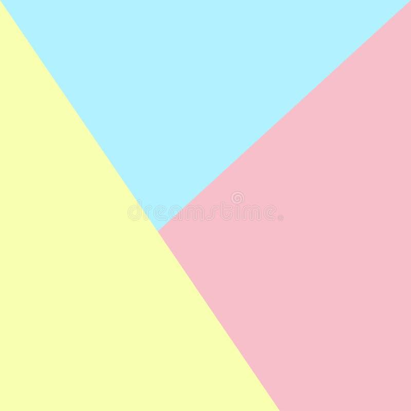 Fundo abstrato do papel da cor pastel Projeto liso Papel de parede azul cor-de-rosa colorido criativo do contexto da superfície d ilustração do vetor