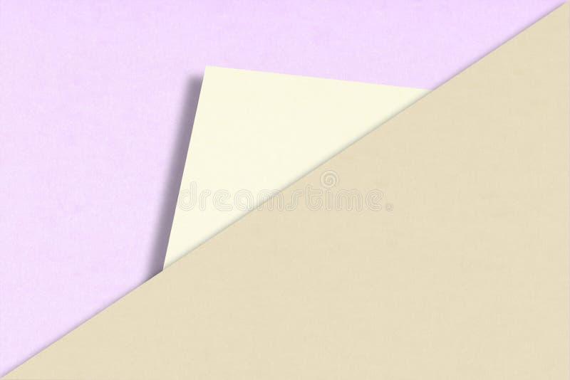 Fundo abstrato do papel de sobreposição em cores pastel na moda fotografia de stock