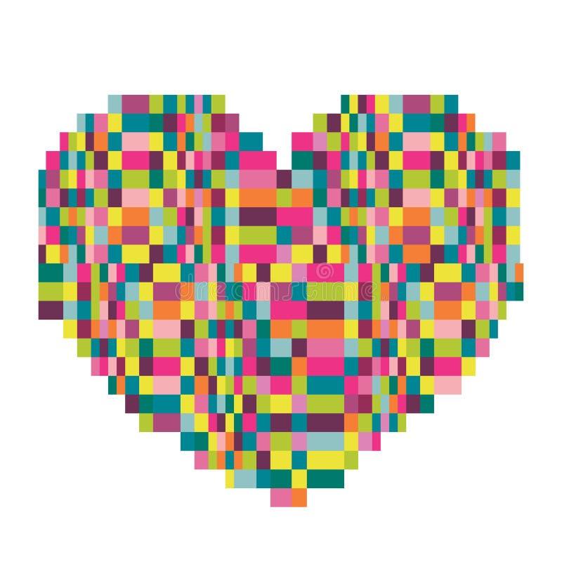 Fundo abstrato do pixel ilustração royalty free