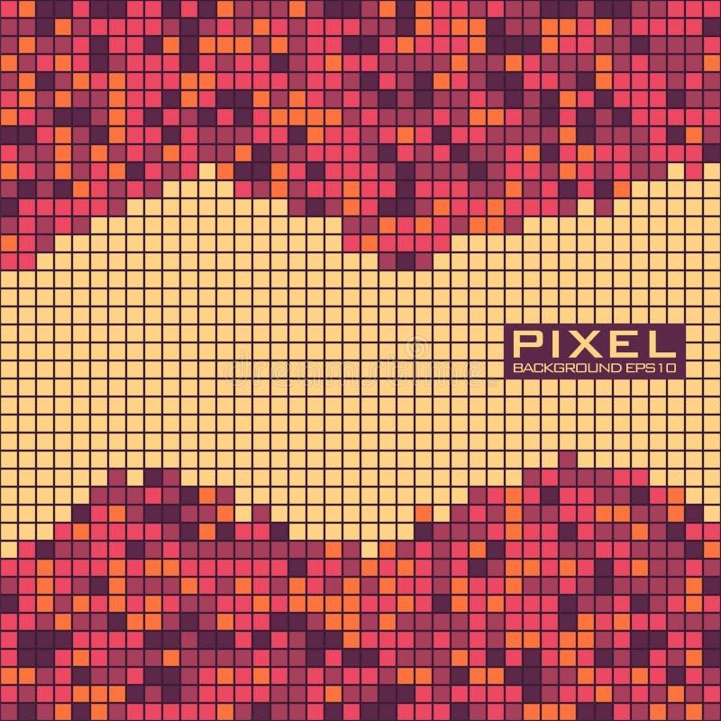 Fundo abstrato do pixel com quadrados pequenos Teste padrão do vetor ilustração stock