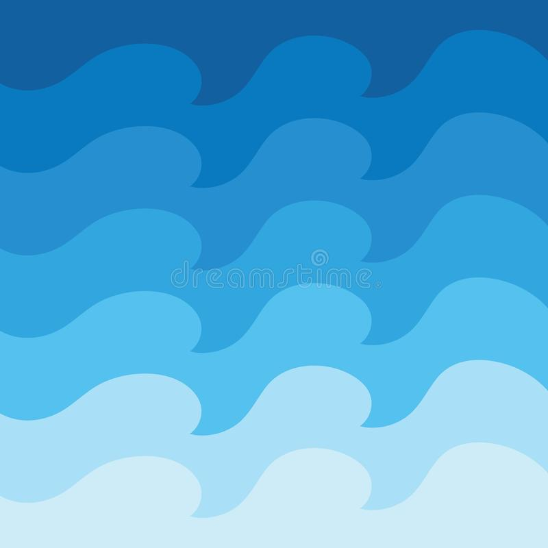 Fundo abstrato do projeto da onda de ?gua ilustração do vetor