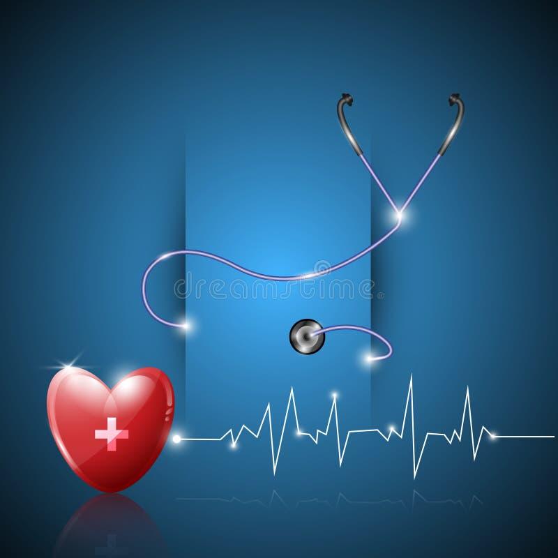 Fundo abstrato do projeto do papel dos cuidados médicos ilustração stock